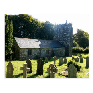 Warleggan Church Cornwall England Postcard