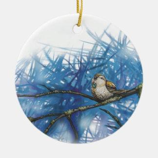 warlike bird ceramic ornament
