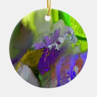 warm and cold colors splash ceramic ornament