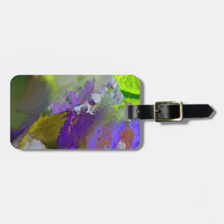 warm and cold colors splash luggage tag