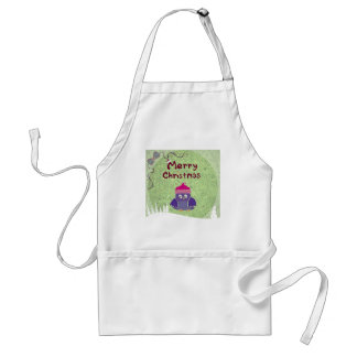 warm and fuzzy penguin Christmas Aprons