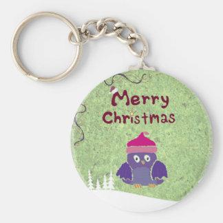 warm and fuzzy penguin Christmas Keychain