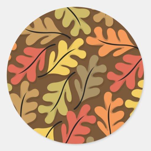 Warm Autumn Leaves Sticker
