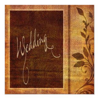 Warm Autumn Romance Affordable Wedding 13 Cm X 13 Cm Square Invitation Card