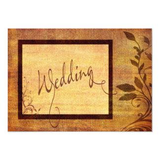 Warm Autumn Romance Affordable Wedding 5 x 7 13 Cm X 18 Cm Invitation Card
