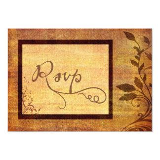 Warm Autumn Romance Affordable Wedding RSVP 13 Cm X 18 Cm Invitation Card