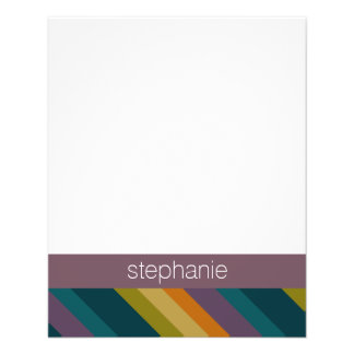Warm Autumn Striped Pattern Custom Name Flyer