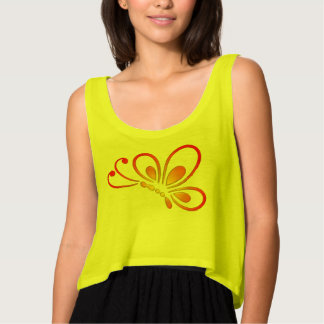 Warm Butterfly Profile Singlet