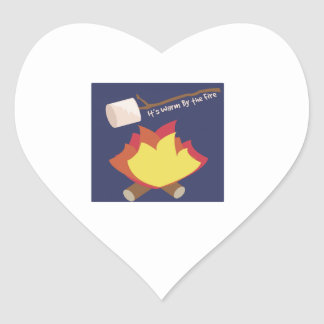 Warm By The Fire Stickers