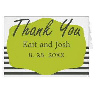 Warm Charcoal Green Elegant Minimalist Thank You Card