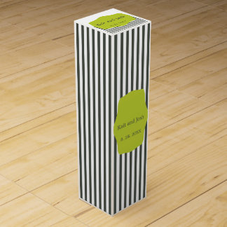 Warm Charcoal Green Elegant Minimalist Wine Gift Box