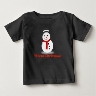 Warm Christmas Cute Snowman Baby Shirt