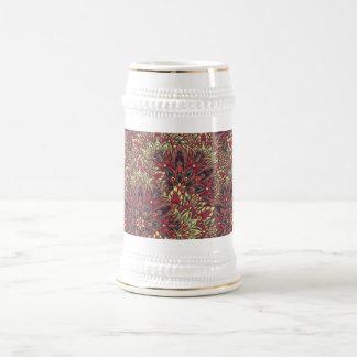 Warm color mandala pattern. beer stein
