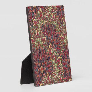 Warm color mandala pattern. plaque