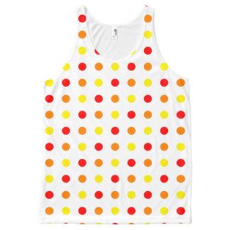 Warm Color Polka Dots Tank Top