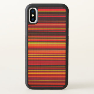 Warm Color - Trendy Style - Stripe Pattern iPhone X Case