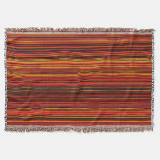 Warm Color - Trendy Style - Stripe Pattern Throw Blanket