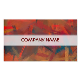 Warm Colors Abstract Art Painting Pack Of Standard Business Cards