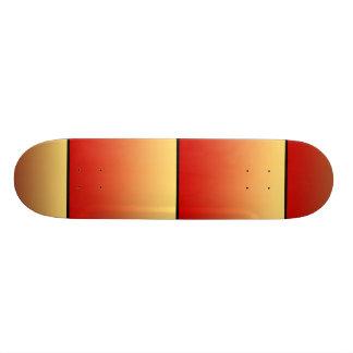 Warm colors, plain design. skateboard deck