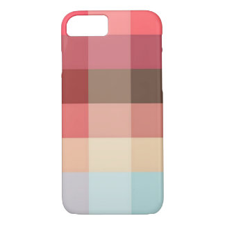 Warm Colors Square Pattern iPhone 7 Case