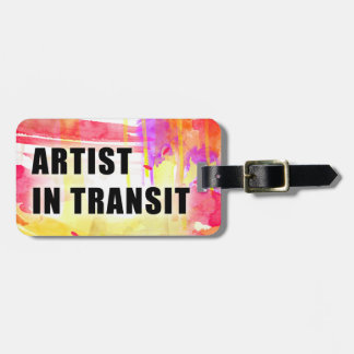 Warm Colourful Custom Artist Travel Tag