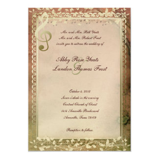 Warm Colours Music Lovers Wedding Invitation