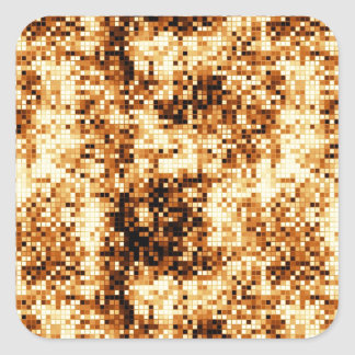 Warm colours square tiles abstract pattern square sticker