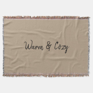 Warm & cosy throw blanket