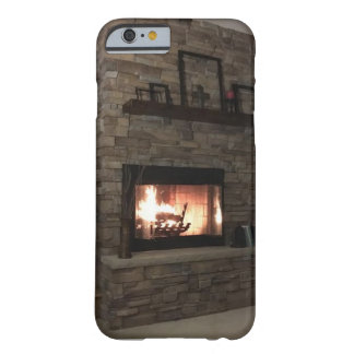 """Warm Cozy Fireplace"" with a ""Romantic Fire"" Barely There iPhone 6 Case"