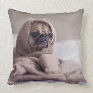 Warm & Cozy Pug in A Blanket Cute Pug Cushion