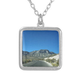 Warm desert days silver plated necklace