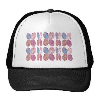 Warm Energy Wave Print Mesh Hat