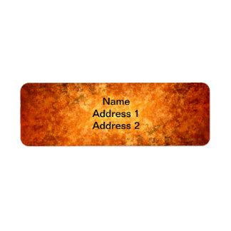 Warm Fall colors Return Address Label