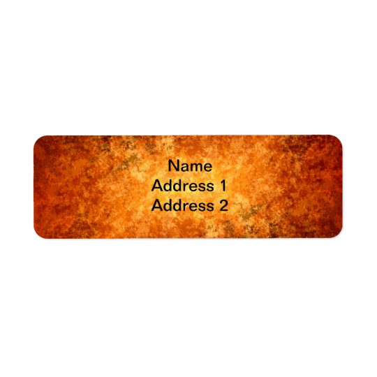 Warm Fall colours Return Address Label