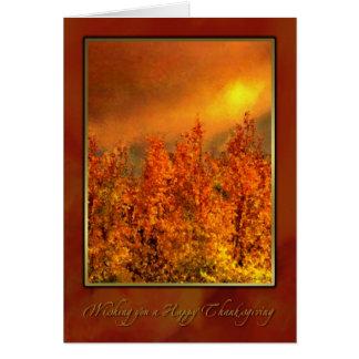 Warm Fall Day Thanksgiving card Greeting Card