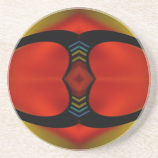 Warm Fall Tones Artistic Contemporary  Abstract Drink Coaster
