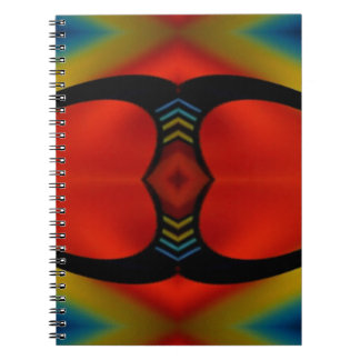 Warm Fall Tones Artistic Contemporary  Abstract Notebooks
