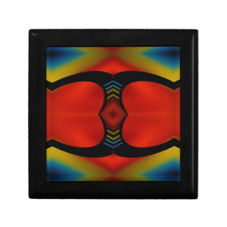 Warm Fall Tones Artistic Contemporary  Abstract Small Square Gift Box