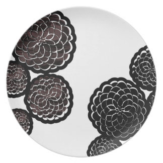Warm Floral Plate