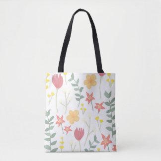 Warm Florals Tote Bag