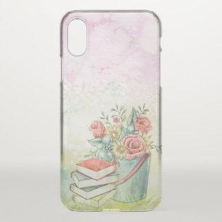 Warm Flowers & Books iPhone X Case
