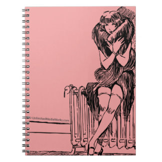 Warm Fuzzy Girl Spiral Notebook