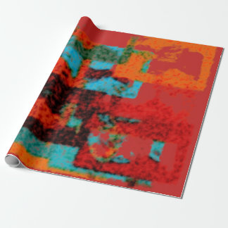 Warm Geometry Wrapping Paper