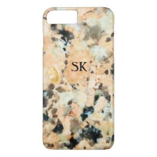 Warm Granite Marble Rock Pattern Custom Monogram iPhone 7 Plus Case