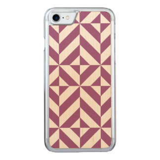 Warm Grape Geometric Deco Cube Pattern Carved iPhone 7 Case