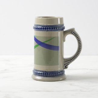 Warm Gray Simple Abstract Design Beer Steins