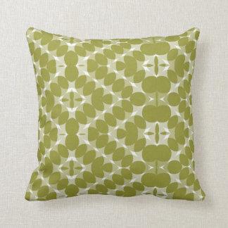 Warm Green Pattern American MoJo Pillow