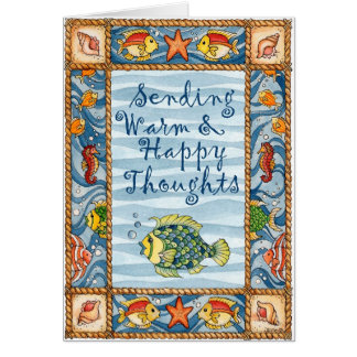 Warm & Happy Thoughts - Greeting Card