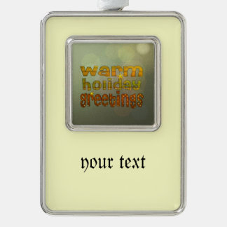 warm holiday greetings silver plated framed ornament