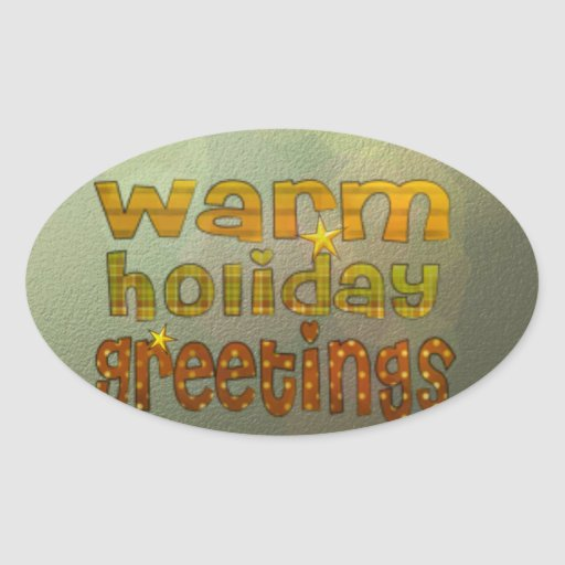 Warm holiday greetings stickers